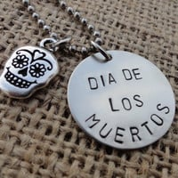 Day of the Dead Sugar Skull Necklace - &quot;Dia De Los Muertos&quot; - Skull