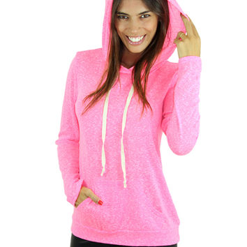 Neon Pink Hooded Top