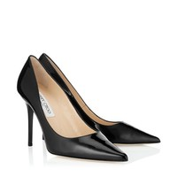 Elegant Black Patent Leather Pointy Toe Pumps | Abel | JIMMY CHOO 247 Icons