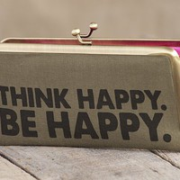Think Happy. Be Happy. Urban Wallet From Natural Life