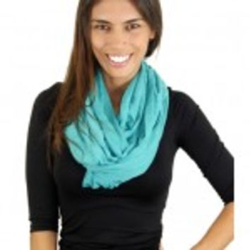 Solid Teal Infinity Scarf