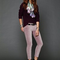 Free People 5 Pocket Velvet Skinnies