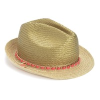 GOLD METALLIC CROWN FEDORA by Juicy Couture, O/S