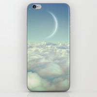 Dream Above The Clouds (Crescent Moon) iPhone & iPod Skin by Soaring Anchor Designs