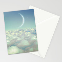 Dream Above The Clouds (Crescent Moon) Stationery Cards by Soaring Anchor Designs
