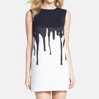 Women's Cynthia Steffe 'Blair' Drop Print Faille Shift Dress,