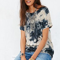 Moon & Sky Short-Sleeve Cuffed Tunic Top-