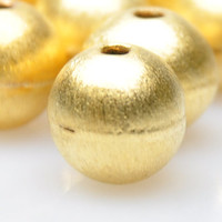 10 Pieces Matte Gold Ball Spacer Beads, Gold Jewelry Spacers, Jewelry Findings, Jewelry Making Supply