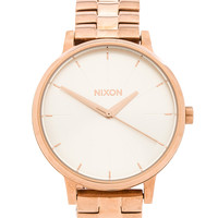 Nixon The Kensington in Rose Gold & White