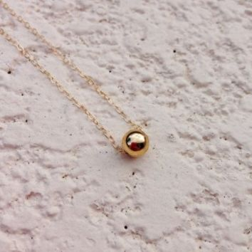 N&K Designs - Gold Ball Necklace | ShopMiamiStyle