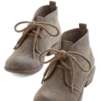 ModCloth Menswear Inspired Tour Date Bootie in Pavement