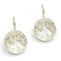 Lilly Stamped Earring in Sterling Silver - Melissa Doan Fine Sterling Silver