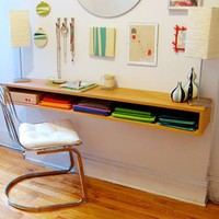DIY Stunning Yet Minimalist Wall-Mount Desk | Shelterness