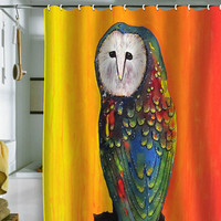 DENY Designs Home Accessories | Clara Nilles Glowing Owl On Sunset Shower Curtain