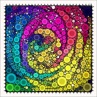 Circles like a Rose - 5x5 Metallic Canvas Textured Art Photograph Print - Made by artstudio54 on ETSY