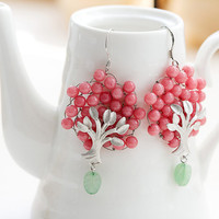E0036 // Bubble Tree Earring - Pink