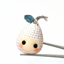 Amigurumi Snow Pear Baby MochiQtie - Crochet Amigurumi mochi size mini toy doll