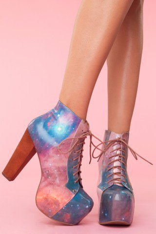 Lita Platform Boot - Cosmic - NASTY GAL