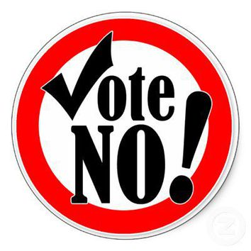 Vote No! Round Stickers from Zazzle.com