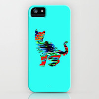 Psychedelic Cat iPhone Case by JT Digital Art  | Society6