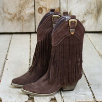 Hillside Fringe Boots, Rugged Boots &amp; Shoes