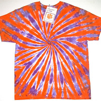 Tie Dye Shirt/ Made to Order/ Clemson Tiger Stripe Spiral