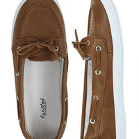 Leatherette Boat Shoe - Teen Clothing by Wet Seal
