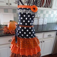 4RetroSisters Halloween Apron Retro and Vintage by 4RetroSisters