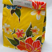 Oilcloth Lunch Bag: Hibiscus - Yell.. on Luulla