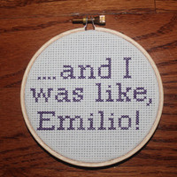 "A Night At The Roxbury Cross Stitch: Will Ferrell Quote ""...and I was like, Emilio"""