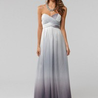 LANGHEM MONA LISA SILVER OMBRE FULL LENGTH GOWN