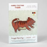 buyolympia.com: Susie Ghahremani - The Sabre Tooth Tiger X-Stitch Pattern Kit