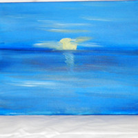 Sunset on the Atlantic Original Oil Painting