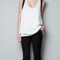 TOP WITH CHAIN SLEEVES - T-shirts - Woman - ZARA United States