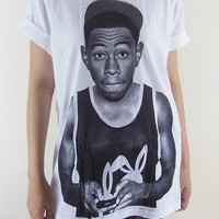 Tyler T-Shirt -- The Creator Hip Hop Rap Rapper Rock Tyler T-Shirt Women T-Shirt Men T-Shirt Unisex T-Shirt Tee Shirt White T-Shirt Size M