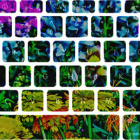 Alice in Wonderland Flowers Macbook Keyboard Stickers