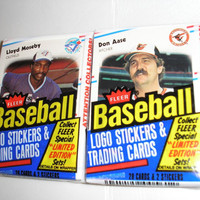 1988 Fleer Vintage Basbeball Cards - 2 packs - 56 Cards & 4 Stickers - Un-Opened - Fantastic stocking stuffers