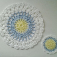 Crocheted Dishcloth & 1 Dish Scrubber