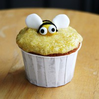 Honey Bee Cornmeal Cupcakes Recipe and Food Blogger Advice