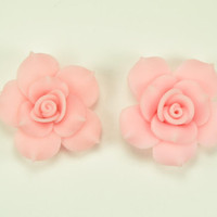 Camelia Flower Cabochons- Pink (40MM)((FL5200))