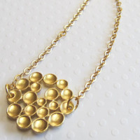 18kt Gold Plated Bubble Cluster Necklace
