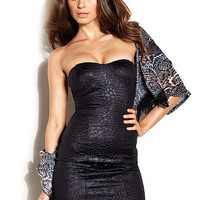 Strapless Snakeskin Dress