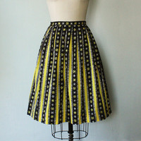 Vintage 1950s Snowflake Skirt by FancyThatVintage on Etsy