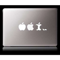 Three apples--Macbook Decal Macbook Stickers Macbook pro air Decals Apple Decal for Macbook Pro / Macbook Air