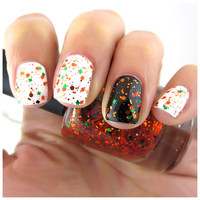 Pumpkinhead - Orange, Green, Halloween Nail Polish