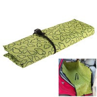 Car Back Seat Cover Dog Mat Double Layer Portable Green   Black - Default