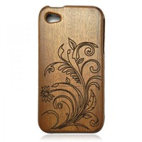 Wood Iphone4/4s Case- Hand Carved F.. on Luulla