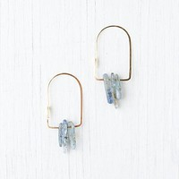 Free People Quartz Dagger Oval Hoops