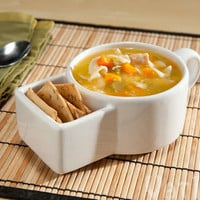 Soup &amp; Cracker Mugs: Soup bowls with a built-in
