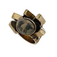 Oval Stone Block Ring - Jewelry  - Accessories